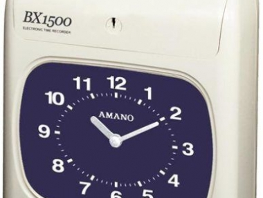 Amano BX1500 Time Recorder – Black Print and Manual Column Shift
