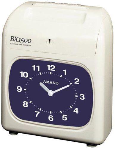 Amano BX1500 Time Recorder - Black Print and Manual Column Shift.