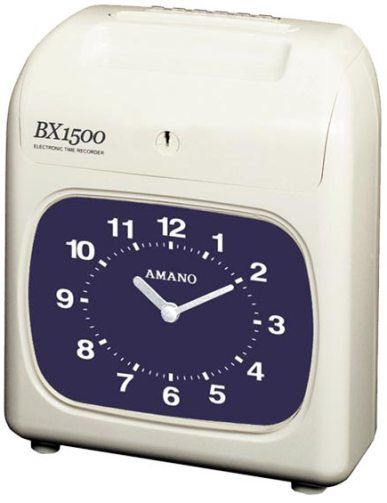 Amano BX1500 Time Recorder - Black Print and Manual Column Shift.
