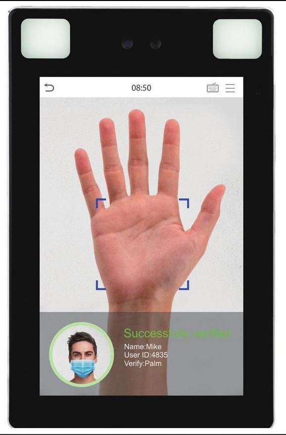 Facial, Fingerprint & temperature reader