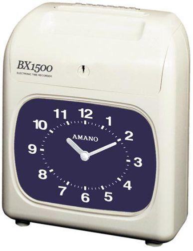 Amano BX1500 Time Recorder – Black Print and Manual Column Shift