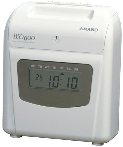 Amano BX1600 Time Recorder – Black Print and Manual Column Shift