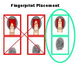 Fingerprint placement tips